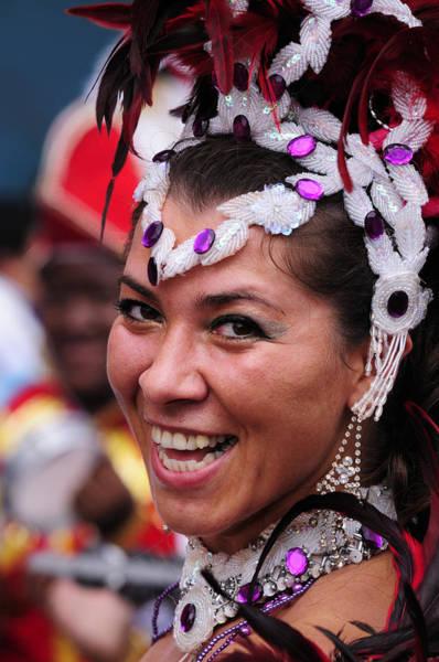 Wall Art - Photograph - A Samba Dancer At The Carnaval Del Pueblo In London by Liz Pinchen