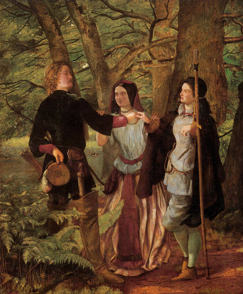 Wall Art - Painting - A Scene From As You Like It by Walter Deverell