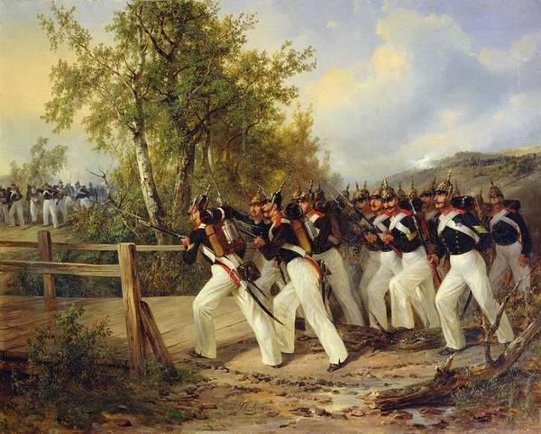 Marching Painting - A Scene From The Soldier's Life by Carl Schulz