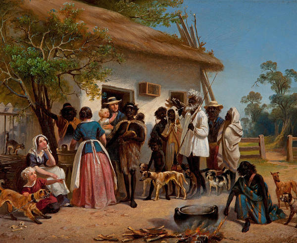 Aborigine Painting - A Scene In South Australia by Alexander Schramm