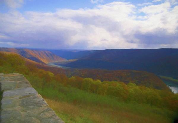 Digital Art - A Scenic View From Hyner View State Park. by Rusty R Smith