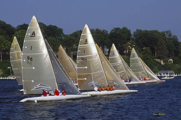 Photograph - A Scow Start - Lake Geneva Wisconsin by Bruce Thompson