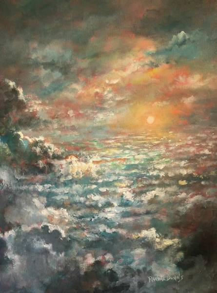 Wall Art - Painting - A Sea Of Clouds by Randy Burns