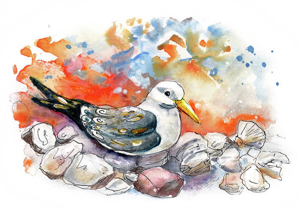 Painting - A Seagull In Watchet by Miki De Goodaboom