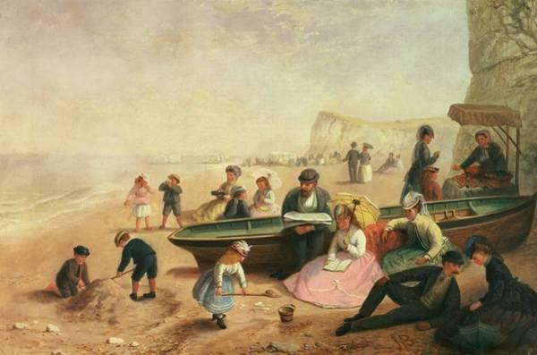 Spade Painting - A Seaside Scene  by Jane Maria Bowkett