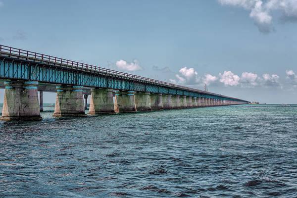Photograph - A Section Of The Original Seven Mile Bridge by John M Bailey