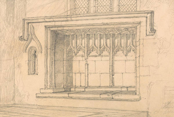 Drawing - A Sedilia In Upwell Church, Norfolk by John Sell Cotman