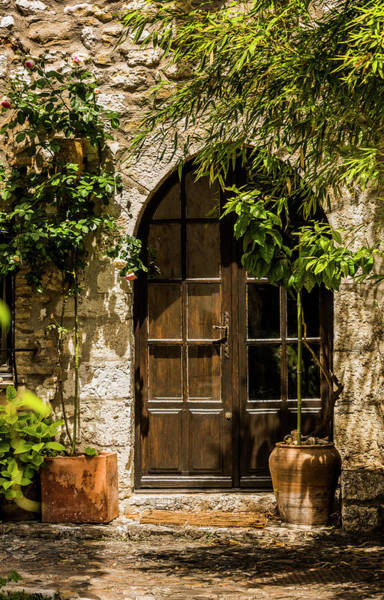 Photograph - A Shadowy Door In Saint Paul De Vence France by Maggie McCall
