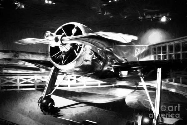 Radial Engine Photograph - A Shining Example Black And White by Mel Steinhauer