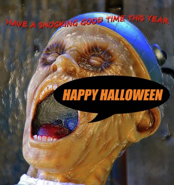 Wall Art - Digital Art - A Shocking Custom Halloween Card by David Lee Thompson