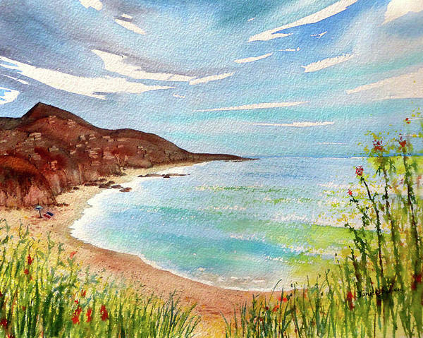 Laguna Beach Painting - A Short Walk To The Beach by Janice Sobien