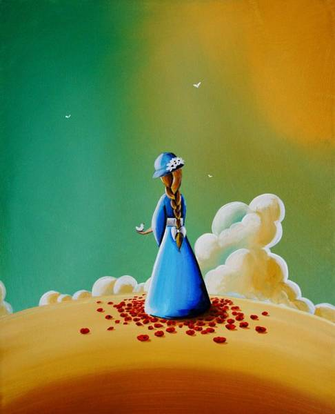 Blue Dress Painting - A Simple Melody by Cindy Thornton