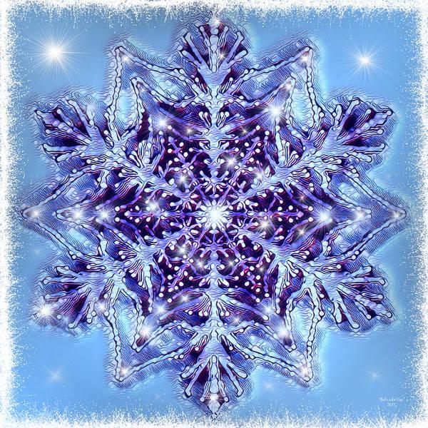 Digital Art - A Single Snowflake by Artful Oasis