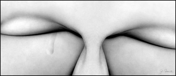 Female Nude Digital Art - A Single Tear by Joe Bonita