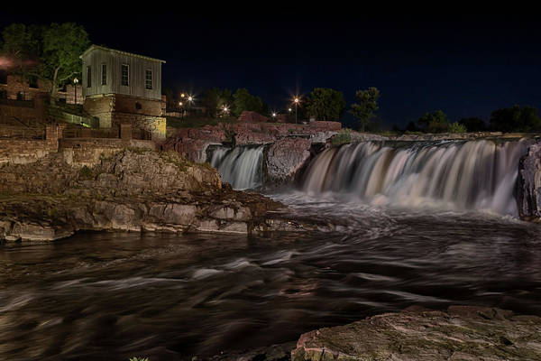 Photograph - A Sioux Falls Night by Susan Rissi Tregoning