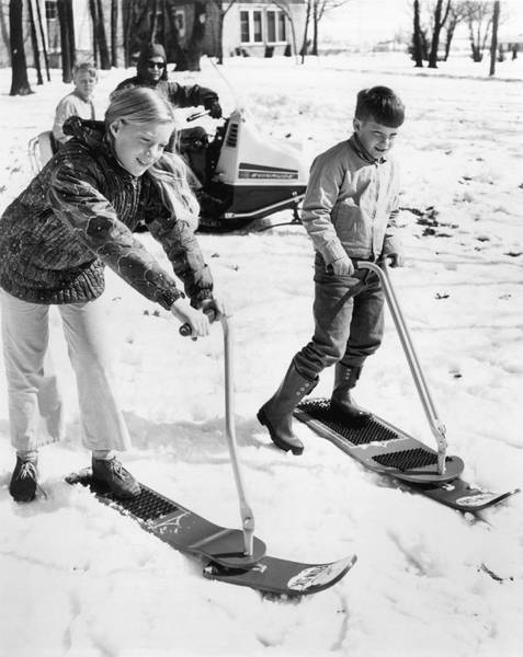 Wall Art - Photograph - A Ski Board With Steering by Underwood Archives