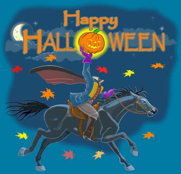 Trick Or Treat Digital Art - A Sleepy Hollow Halloween by J L Meadows
