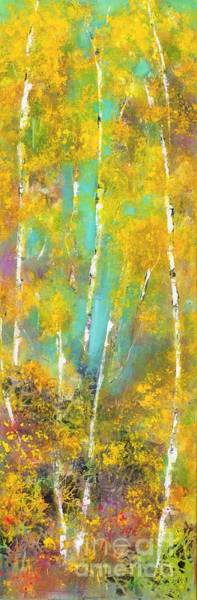 Wall Art - Painting - A Slice Of Aspen by Frances Marino