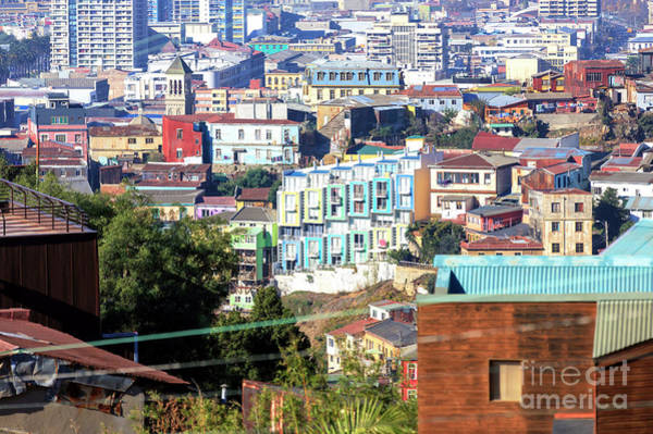 Photograph - A Slice Of Valparaiso Chile by John Rizzuto