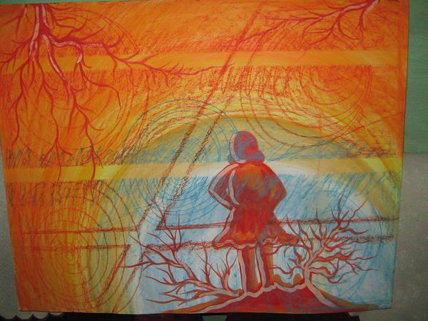 Wall Art - Painting - A Small Girl by Gayatri Maheshwari