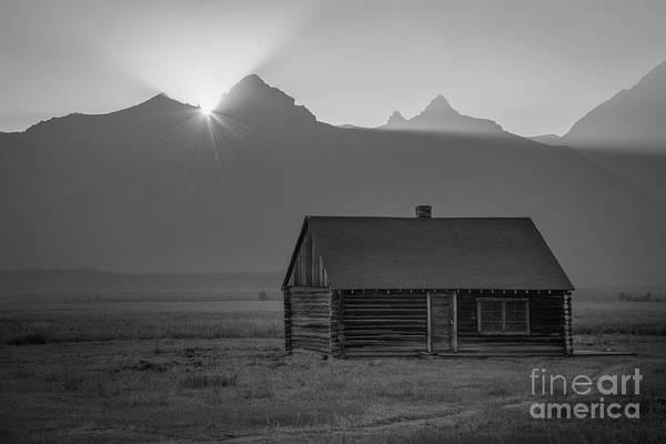 Wall Art - Photograph - A Small Home On Mormon Row Bw by Michael Ver Sprill