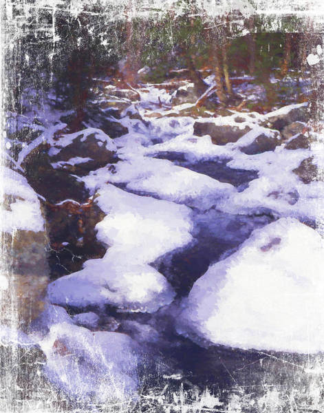 Photograph -  A Small Mountain Stream Covered With Snow And Ice. A Very Peaceful Setting. by Rusty R Smith