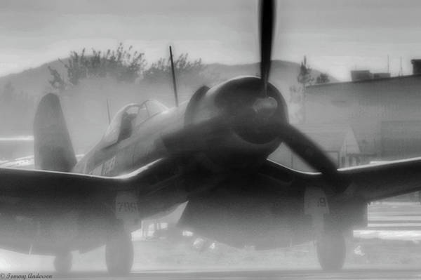 Wall Art - Photograph - A Smoky Corsair Start Up by Tommy Anderson