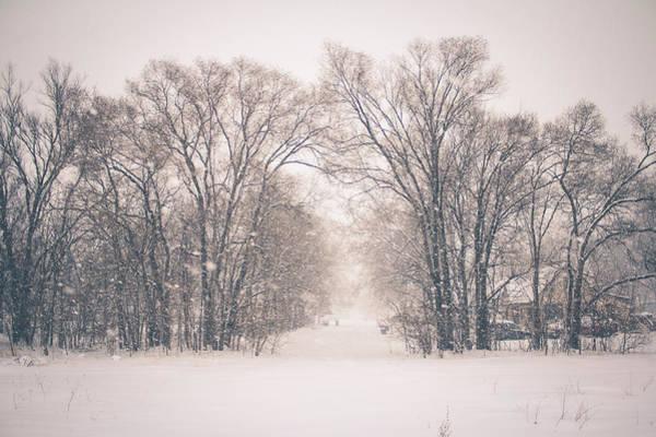 A Snowy Monday Art Print