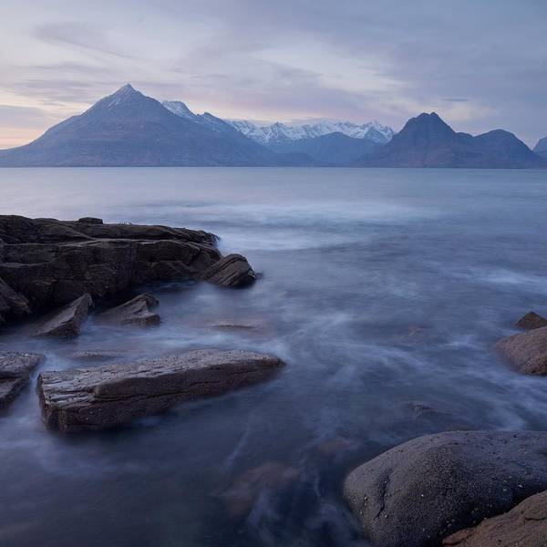 Photograph - A Soft Sunset At Elgol by Stephen Taylor