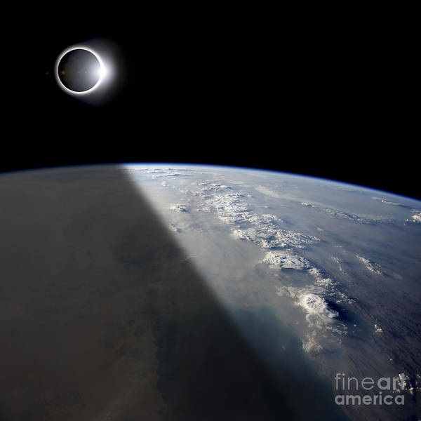 Strange Land Wall Art - Photograph - A Solar Eclipses Partially Shades by Marc Ward