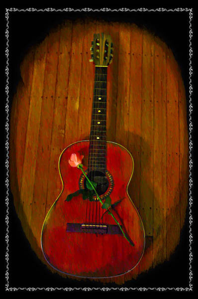 Spanish Guitar Wall Art - Photograph - A Song For My Love by Bill Cannon