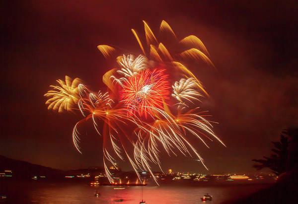 Photograph - A Splash Of Fireworks by Bonnie Follett