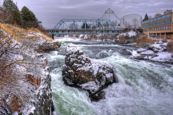 Photograph - A Spokane Falls Winter by Lee Santa