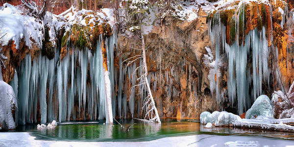 Digital Art - A Spring That Knows No Summer. - Hanging Lake Print by OLena Art - Lena Owens