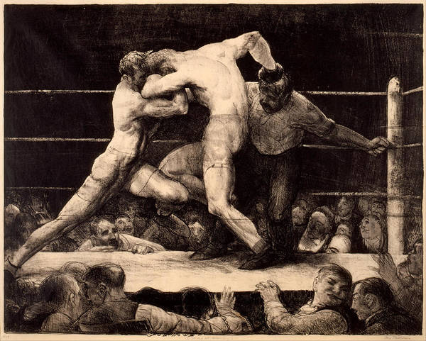 Drawing - A Stag At Sharkey's by George Bellows
