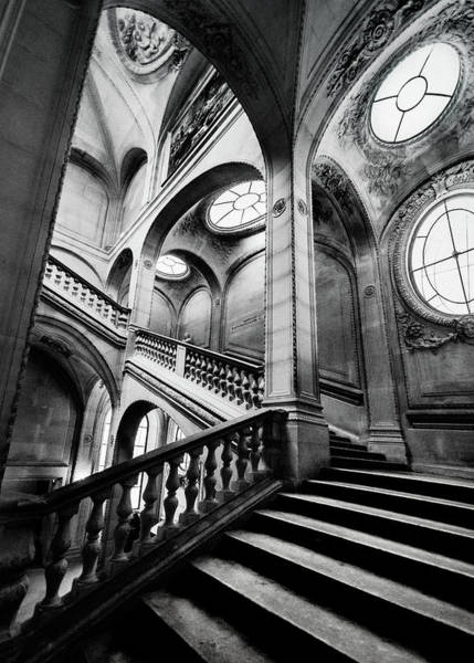 Photograph - A Stairwell In The Louvre, Paris by Maggie McCall
