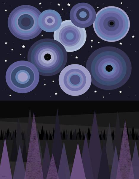 Digital Art - A Starry Night Sky II by Val Arie
