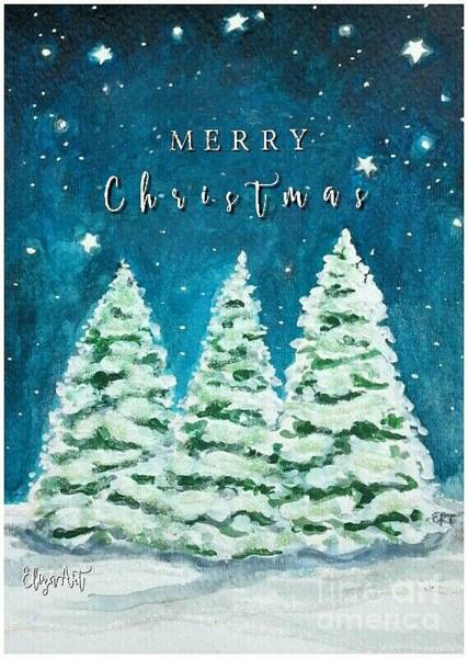 Painting - A Starry Christmas by Elizabeth Robinette Tyndall