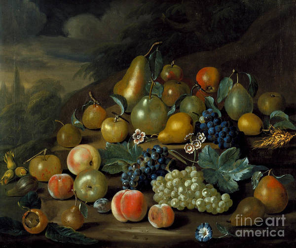 Painting - A Still Life Of Pears by Celestial Images