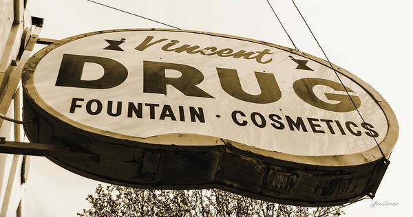 Photograph - A Store For Everyone - Vintage Pharmacy Sign by Steven Milner