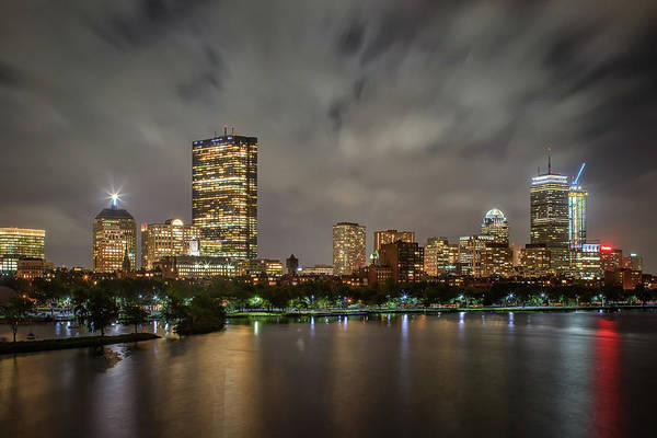 Photograph - A Stormy Night In Boston by Kristen Wilkinson