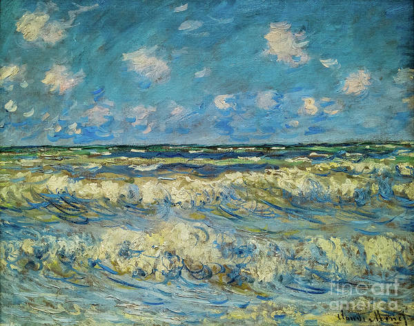 Painting - A Stormy Sea by Claude Monet