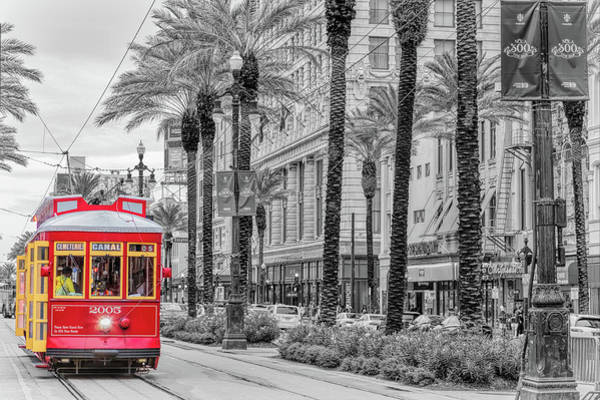 Photograph - A Street Car On Canal by Susan Rissi Tregoning
