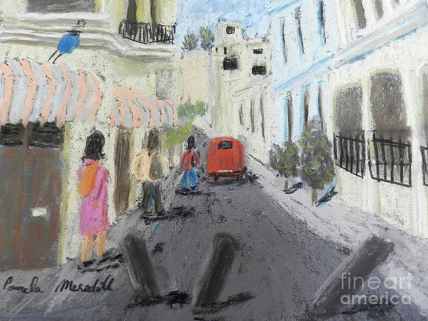 Wall Art - Painting - A Street In Chile by Pamela Meredith