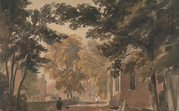 Painting - A Street In Harborne by David Cox