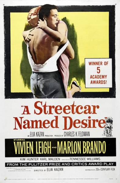 Painting - A Streetcar Named Desire Portrait Poster by R Muirhead Art