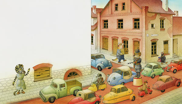 Traffic Painting - A Striped Story04 by Kestutis Kasparavicius