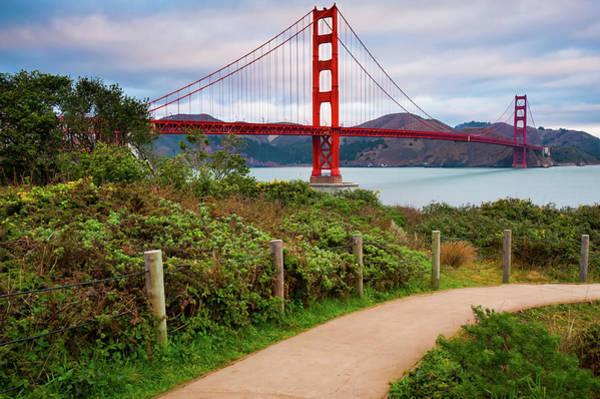 Photograph - A Stroll Near The Golden Gate Bridge - San Francisco California by Gregory Ballos