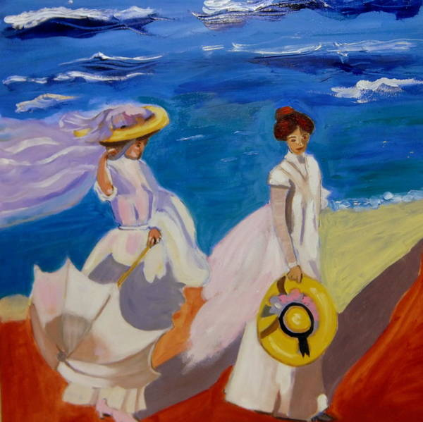 Painting - A Stroll On The Beach   by Rusty Gladdish