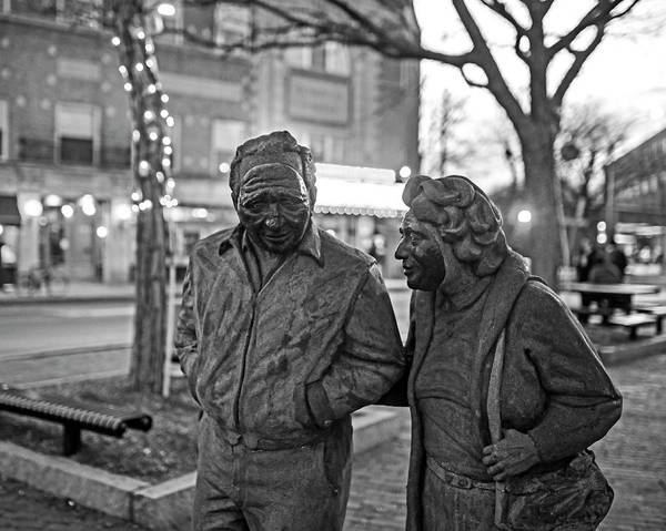 Photograph - A Stroll Through Davis Square Somerville Ma Black And White by Toby McGuire